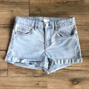 H&M light Blue Jean Shorts